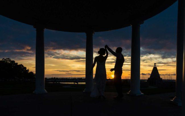 sunset wedding photography in Newport Ri Kings park
