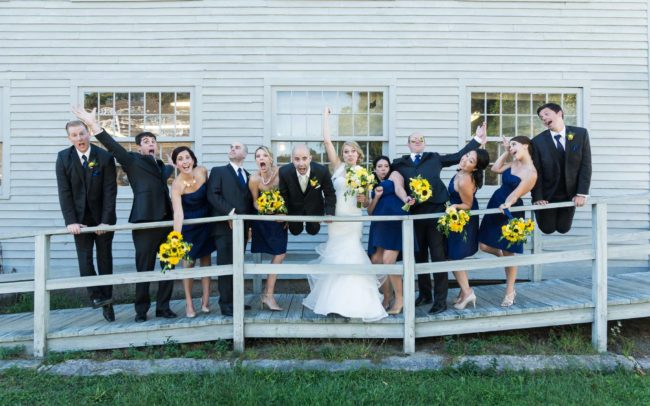 wedding party at mystic Seaport