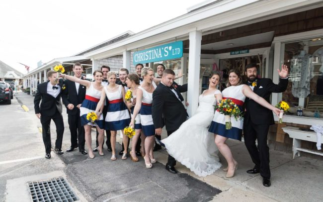 nautical wedding party