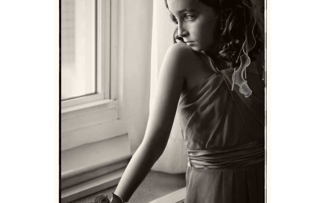 Flowergirl waiting for wedding in CT